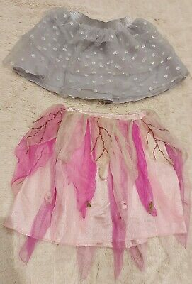 Girls Tutu Style Skirts Age 3-4 Yrs Dress Up Skirts Sparkly Silver Sparkly Pink • 4£