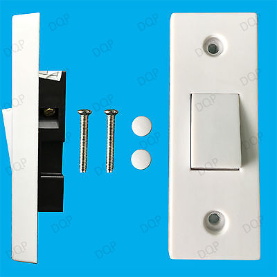 £3.35 • Buy 1 Gang 1 Way 10A White Architrave Light Rocker Wall Switch, BS60669-1 Compliant
