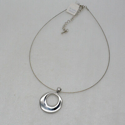 $ CDN10.91 • Buy Lia Sophia Signed Jewelry Polished Pendant Silver Tone Choker Necklace For Women
