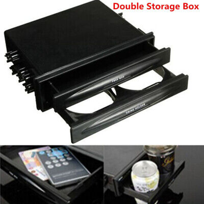 $14.75 • Buy Double Din Dash Radio Installation Pocket Car Cup Holder Storage Boxes For Car