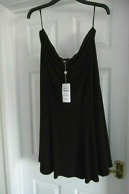 Country Casuals Black Godet Skirt Size Xxl NEW • 19.95£