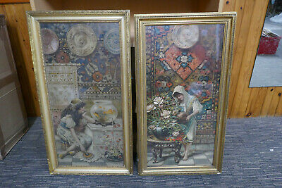£250 • Buy 2 Original Pears Soap Prints Victorian C1890 Framed Size 30 Inch X 17 Inch Each
