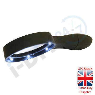 £3.49 • Buy Rolson Magnifier Glass Handheld Reading Magnifying Glass Black Various Model