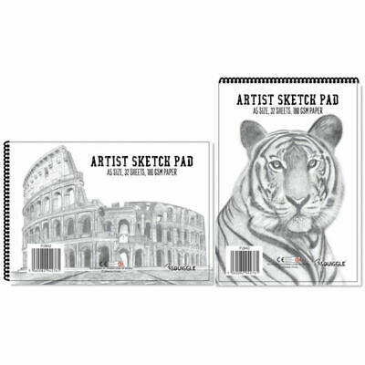£2.49 • Buy A5 Artist Sketch Book - Premium Artist Drawing Spiral 180gsm 64 Pages White