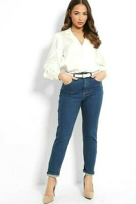 £8.99 • Buy Mom Relaxed Jeans Tapered Denim Trousers X New Look Womens Casual Pants 6 To 18