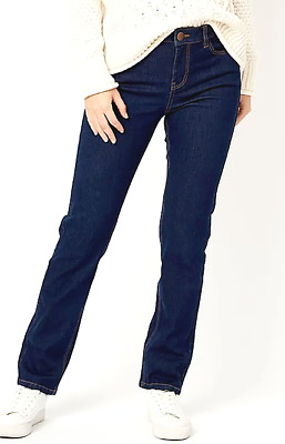 Straight Leg Jeans Jegging Mid Waisted X George Women Relaxed Stretch Pants 8-22 • 9.99£