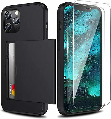 AU11.39 • Buy Wallet Case For IPhone 12 Pro Max With Card Holder Shockproof+Screen Protector