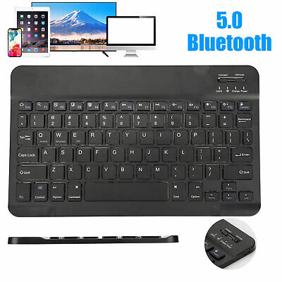 $13.98 • Buy Rechargeable Slim Wireless Bluetooth Keyboard For IOS/Windows/Android/Mac/Tablet