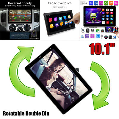 $239.99 • Buy Rotatable Double DIN 10.1  Android 10.1 HD 1G+16G WiFi Car Radio GPS MP5 Player