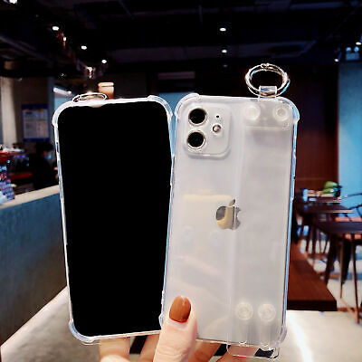 AU10.86 • Buy Clear Phone Protective Case With Wrist Strap For Samsung IPhone 12/11Pro/X/8Plus