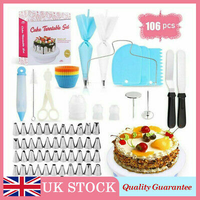 £16.99 • Buy 106pc Home Make Cake Decorating Suppliers Kit Baking Tools Turntable Nozzles Set