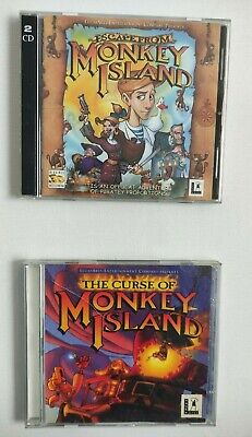 £9.99 • Buy Curse Of & Escape From Monkey Island PC Games
