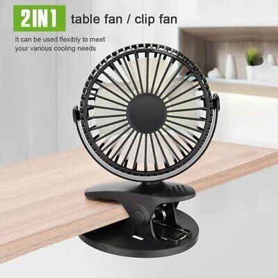 £9.59 • Buy Portable Mini USB Desk Fan Clip On Cooler Table Cooling Air Computer Car Travel