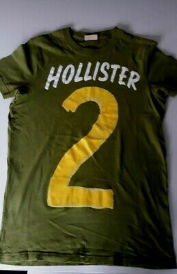 £4 • Buy Hollister Green Mens/Boys T Shirt Size S.  Approx 36  Chest