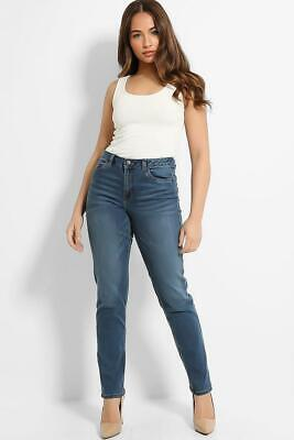 Straight Leg Relaxed Jeans Denim Trousers X George Womens Stretchy Mom Pants • 9.99£