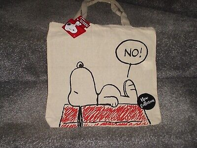 £3.05 • Buy  Peanuts Tote Bag Snoopy On Kennel - 100% Cotton
