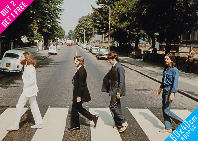 £7.50 • Buy The Beatles Abbey Road Poster Large 60x40 Poster Rare Right To Left Photo