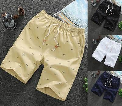 $14.99 • Buy Men Casual Sport Shorts Chino Summer Beach Joggers Pants Twill Cotton Slim Fit