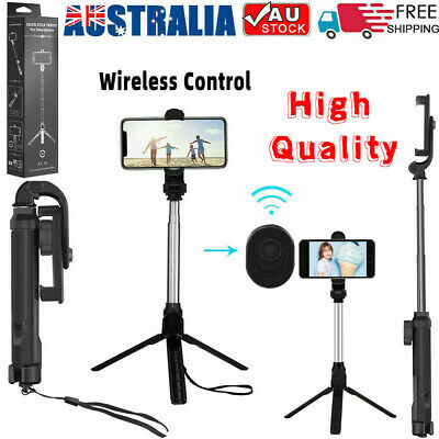 AU13.49 • Buy 2in1 360°Rotation Selfie Stick Tripod Remote Holder Mount Stand For Camera Phone