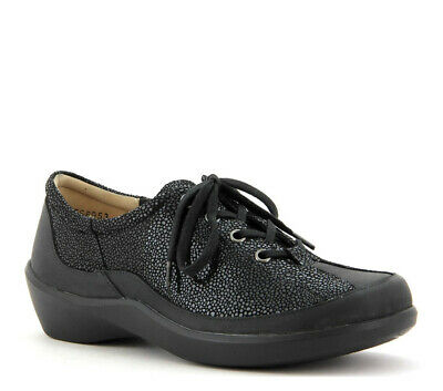 AU159 • Buy New ZIERA - 40W 9 ALLEY (EFS Last Allsorts) Black Lace-Up Wide Flat Shoes Nurse
