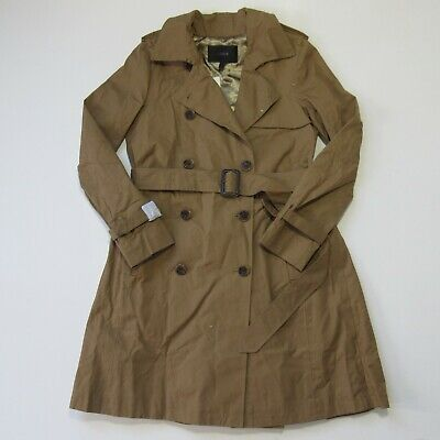 AU178.05 • Buy NWT J.Crew Pleated Trench In Khaki Silk Superdry Cotton Belted Coat 2