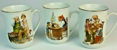 $ CDN23.84 • Buy Vintage 1982 Norman Rockwell Museum Collection Set Of 3 Coffee Cups Mugs