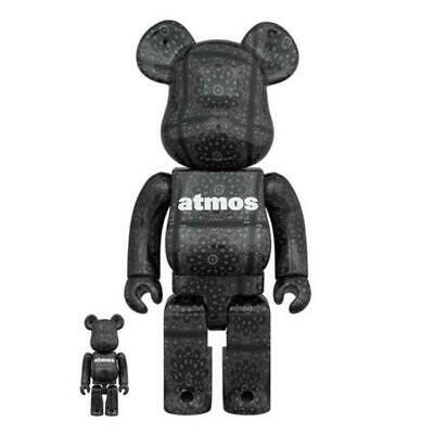 $269 • Buy Medicom Toy BE@RBRICK Atmos BANDANA  Black Ver. 100% & 400%  BEARBRICK