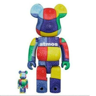 $289 • Buy Medicom Toy BE@RBRICK Atmos BANDANA  Multi Ver. 100% & 400%  BEARBRICK