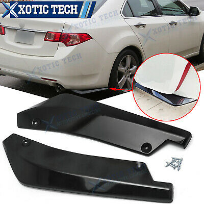 $34.91 • Buy For Acura TSX TLX ILX MDX RDX Rear Bumper Diffuser Splitter Canard Gloss Black
