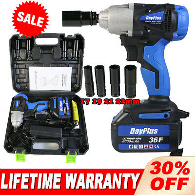 £62.32 • Buy Impact Wrench Electric Cordless 1/2 Inch Driver Tool +Battery For Car Tyre Wheel