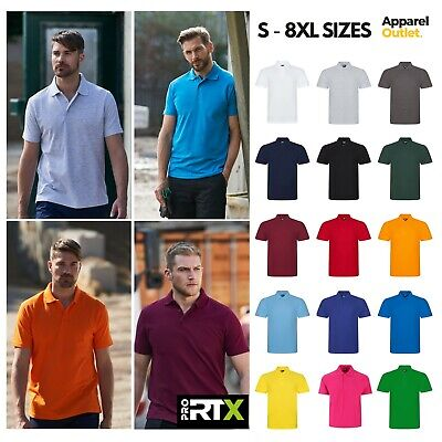 £7.35 • Buy Pro Polo Shirts - Men's Short Sleeve Quick Dry Work Grade Polo Shirts - S To 8XL