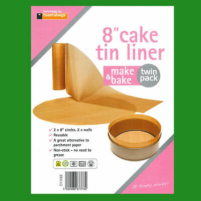 £3.99 • Buy 7  Inch Reusable Non-Stick Beige Cake Tin Liners Make & Bake