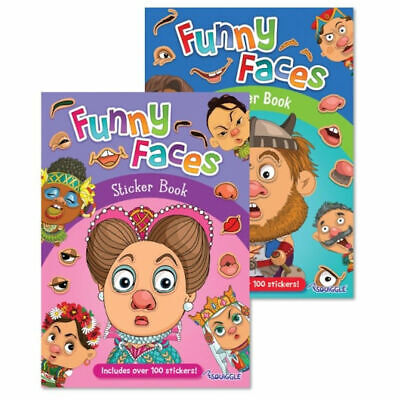 £2.29 • Buy Funny Face Sticker Book  - A4 Stickers Fun Kids Childrens Girls Boys Activity