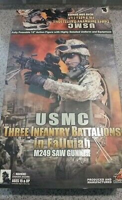 $128.55 • Buy Hot Toys Military USMC Three Infantry Battalions M249 1/6 Scale (missing Pieces)