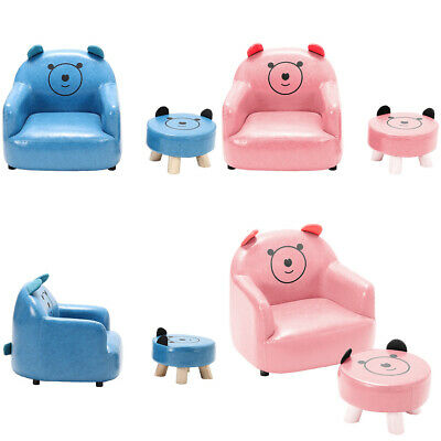 £48.95 • Buy Kid Upholstered Bear Armchair Relax Leather Seat Single Sofa Child Gift Toddler