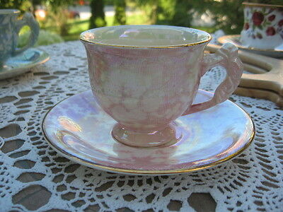 $ CDN109.17 • Buy Cup & Saucer Brocade Royal Winton Grimwades England Rose On Handle Pink White