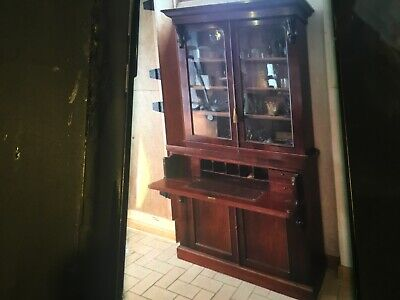 AU1300 • Buy ORIGINAL  1860s AUSTRALIAN EARLY VICTORIAN MAHOGANY BUREAU BOOKCASE