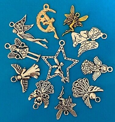£1.45 • Buy Tibetan Alloy Angel Charms Angels Fairy Fairies Antique Silver Large Selection