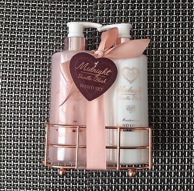 £8 • Buy Vanilla Blush Midnight Hand Wash And Hand Lotion With Rose Gold Stand