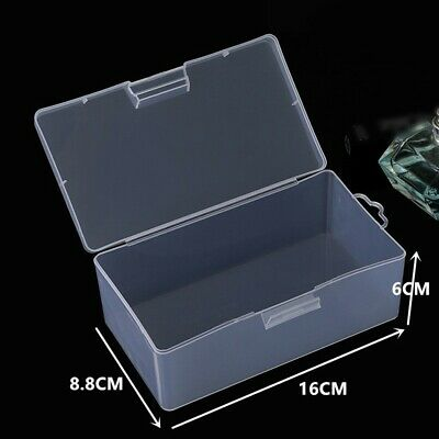 £5.67 • Buy Storage Box Organiser Bank Cards Beads Clear Craft Plastic Transparent