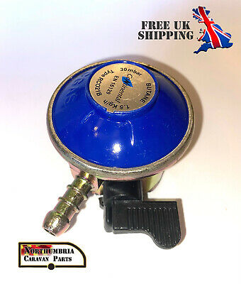 CONTINENTAL 21mm Butane Gas Regulator For 21mm Calor & Flogas Cylinders 30Mbar • 7.10£