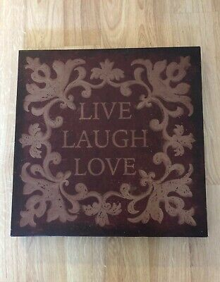 £5.66 • Buy Live Laugh Love Home Wall Decor Large Canvas