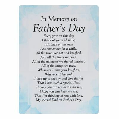£3.15 • Buy Memorial Grave Card In Memory On Father's Day 16.5cm X 12cm Waterproof