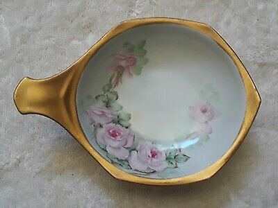 $15 • Buy IMPERIAL CROWN AUSTRIAN China Hand Painted Initialed  M Z C W A  Floral W/Gilt