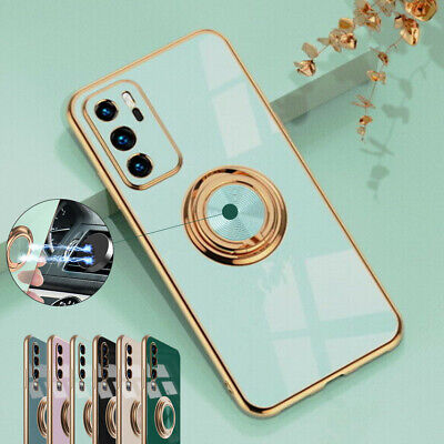 £5.89 • Buy For Huawei P20 P30 P40 Pro Lite Luxury Shockproof 360 Ring Stand Back Case Cover