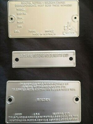 AU550 • Buy  Rare Blank Restoration Plate Set To Suit Holden HQ HX HZ LH LX LC LJ