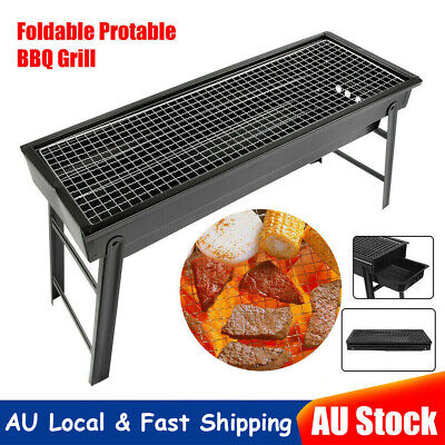 AU39.89 • Buy Foldable Charcoal BBQ Grill Portable Outdoor Barbecue Camping Hibachi Picnic Ro
