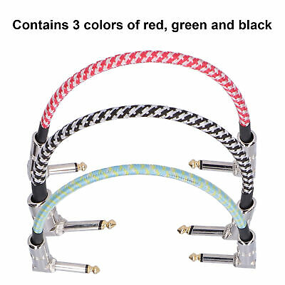$ CDN15.71 • Buy 3Pcs Guitar Effect Pedal Cables Connector 32 X 4 X 1cm Red Black Green Durable