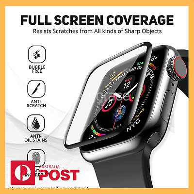 AU3.90 • Buy Apple Iwatch Full Screen Protector Glass Case Series 6 5 4 3 38/40/42/44mm Watch