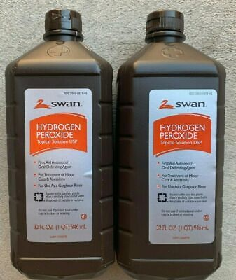 AU2.94 • Buy Hydrogen Peroxide (2 Pack) 32 Fl Oz Antiseptic Topical Solution 3% First Aid